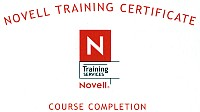 Novell Training Certyficate